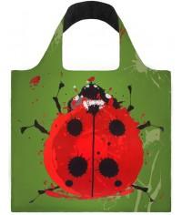 Nákupná taška LOQI Anima Beetle & Gecko