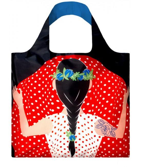 Nákupná taška LOQI Cool People Flashing Girl