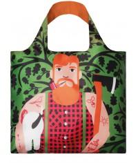 Nákupná taška LOQI Cool People Lumber Jack